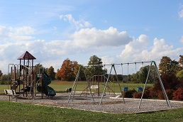 swing set and climber