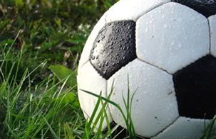soccer ball in field